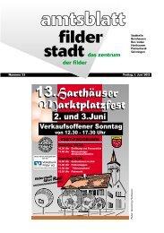 So 17. - Stadt Filderstadt