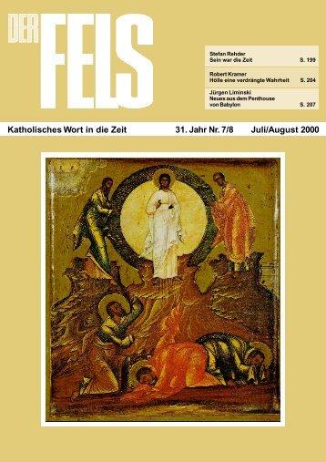 Juli/August 2000 - Der Fels