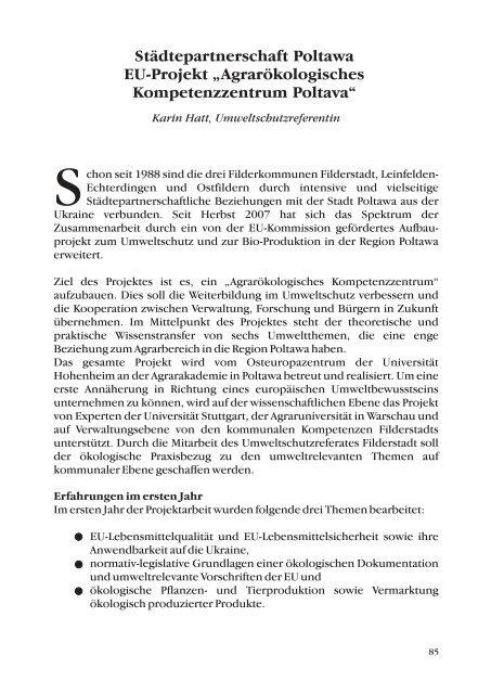 und Umweltschutz in Filderstadt 2009 - Stadt Filderstadt