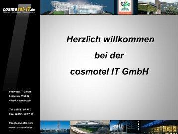 Herzlich willkommen bei der cosmotel IT GmbH