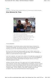 Eine Stimme für Timo - Büngern-Technik