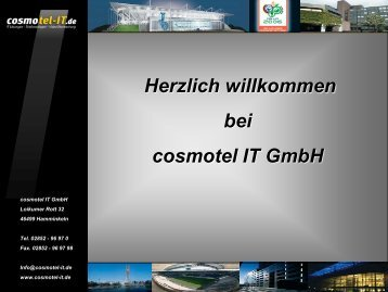 Herzlich willkommen bei cosmotel IT GmbH