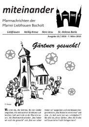 miteinander - Katholische Pfarrgemeinde Liebfrauen