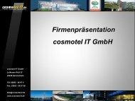 Firmenpräsentation cosmotel IT GmbH