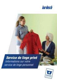 Informations sur votre service de linge privée