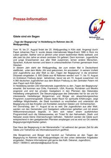 Presse-Information - Stadtpolitik Heidelberg