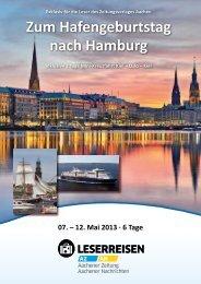 Zum Hafengeburtstag nach Hamburg - Aachener Nachrichten