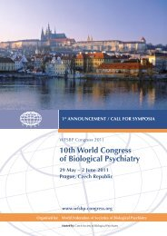 10th World Congress of Biological Psychiatry 29 may – 2 June 2011 ...