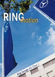 Ring Garage AG Chur Ringstrasse 5 – 9 7007 Chur Tel. 081 287 11 ...