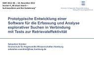 Qualität der Suchresultate - Department Information - HAW Hamburg