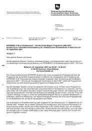 Einladung Info IR H07 - Interreg IVB North Sea Region Programme