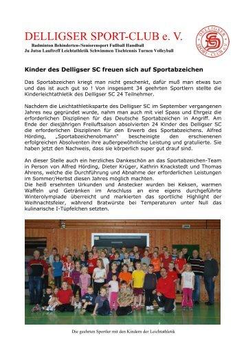 DELLIGSER SPORT-CLUB e - über Leichtathletik in Delligsen