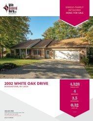 2002 White Oak Drive Marketing Flyer