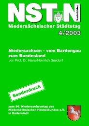Niedersachsen - vom Bardengau zum Bundesland