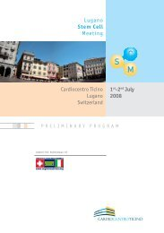 Lugano Stem Cell Meeting 1st-2nd July 2008 Cardiocentro Ticino ...