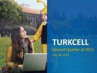 Q2 2011 Results Presentation - Turkcell