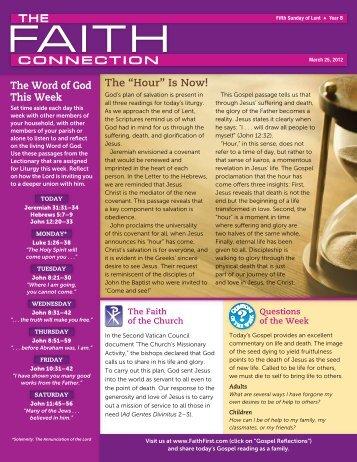"""""""Hour"""" Is Now! - Saint John the Baptist Catholic Church"""
