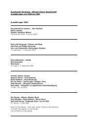 Liste - Kunstverein Nürnberg