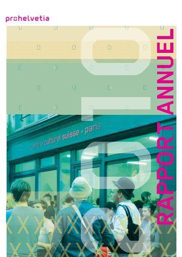 Rapport annuel 2010 (PDF) - Pro Helvetia