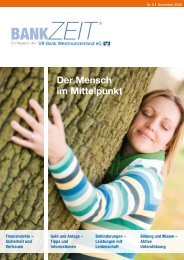 Nr. 6 November 2008 ZEIT - VR-Bank Westmünsterland eG