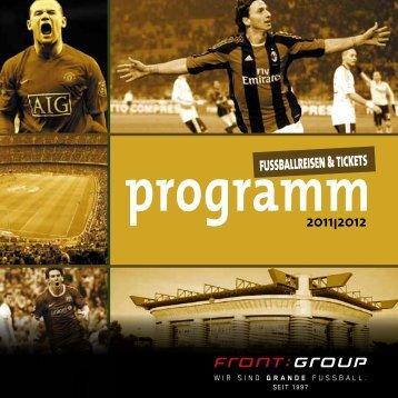 programm2011I2012 FUSSBALLREISEN & TICKETS - Front Group
