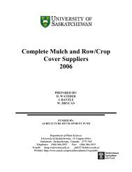 Complete Mulch and Row/Crop Cover Suppliers 2006 - University of ...