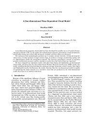 A One-dimensional Time Dependent Cloud Model - Atmospheric ...