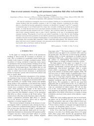 Time-reversal symmetry breaking and spontaneous anomalous Hall ...