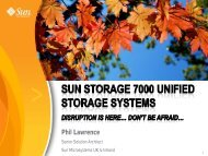SUN STORAGE 7000 UNIFIED STORAGE SYSTEMS IT'S TIME TO ...