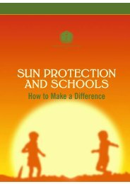 SUN PROTECTION AND SCHOOLS - World Health Organization