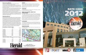 2009 Rate Card - Lethbridge Herald
