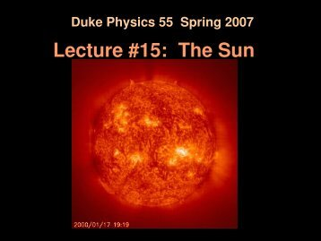 Gravitational Equilibrium How does the Sun remain ... - Duke Physics