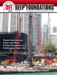 chicago trump international tower and hotel - Deep Foundations ...