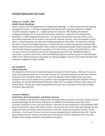 speakers' bios - American Fraternal Alliance