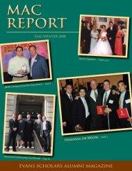 MAC REPORT MAC REPORT - Evans Scholars Foundation