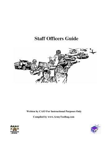 CAS3 Staff Officer Guide - U.S. Army