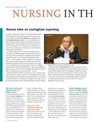 Nursing in the News - Registered Nurses' Association of Ontario