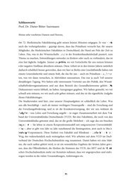 Prof. Dr. Dieter Bitter-Suermann - Medizinischer Fakultätentag