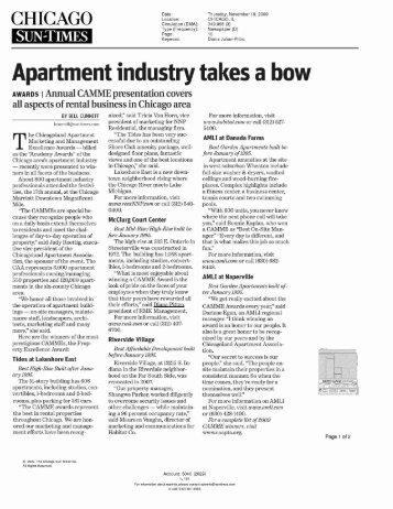 Chicago Sun Times (Mc Clurg Court) - RMK Management