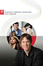 20102011 SEASON GUIDE - Winnipeg Symphony Orchestra