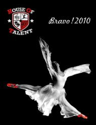 2010 Yearbook - House of Talent