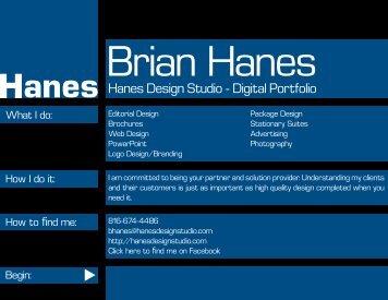 Hanes Design Studio - Digital Portfolio