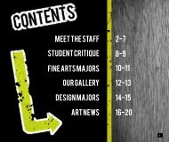 meet the staff 2-7 8-9 10-11 12-13 14-15 16-20 Student critique ...