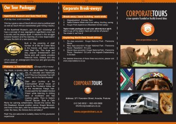 Corporate Tour - CorporateShuttle.co.za