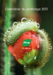 Calendrier du jardinage 2012 - Garden Centre Burnier