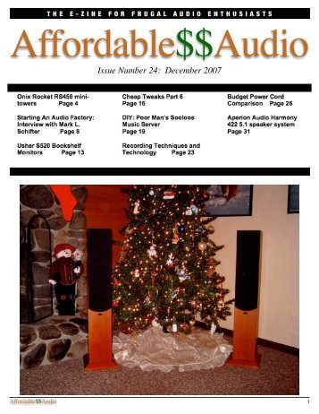 Issue Number 24: December 2007 - Affordable$$Audio