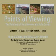 October 12, 2007 through March 2, 2008 WilliaM King RegiOnal ...