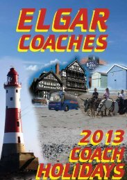 holiday booking form - elgar coaches