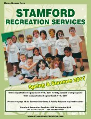 RECREATION SERVICES - City of Stamford