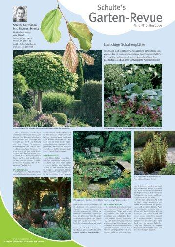 Zeit nehmen, entspannen, erholen und geniessen - Schulte Gartenbau